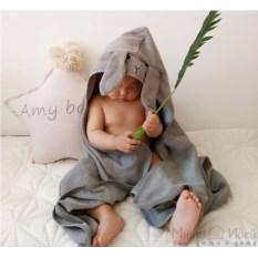 Полотенце с капюшоном Серый зайка