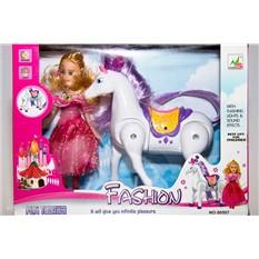 Куклы Барби и лошадка