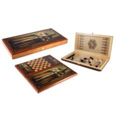 Настольная игра Рыцарь: нарды, шашки, размер 40х20 см