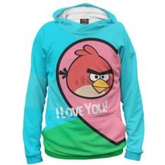 Худи Angry Birds in love