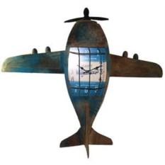 Декоративные настенные часы Самолет