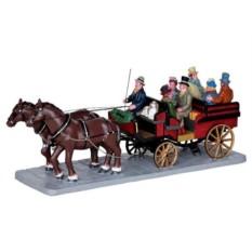 Повозка Рождественский выезд в стиле кантри