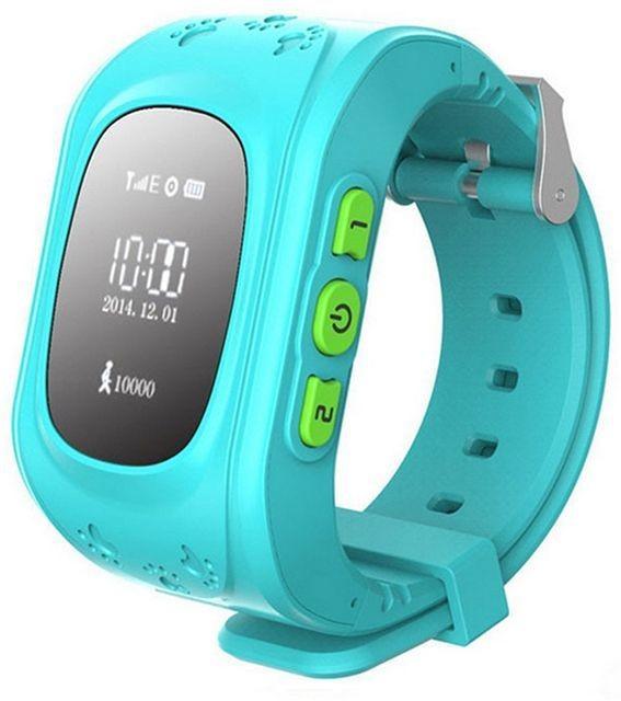 Голубы детские часы Smart Baby Watch Q50
