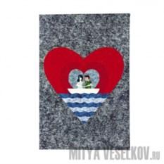 Обложка для паспорта Лодка любви