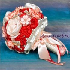 Брошь-букет Красные розы
