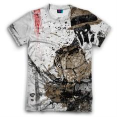 Мужская футболка 3D с полной запечаткой Роршах