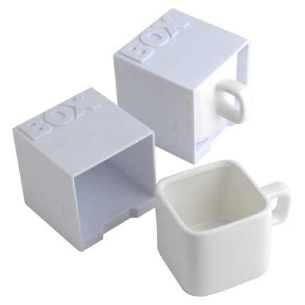 Керамическая кружка Куб, белая
