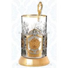 Подарочный набор для чая Орден победы. Звезда (позолота)