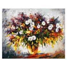 Картины по номерам «Сирень и ромашки»