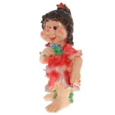Декоративная садовая фигура Девочка с цветочками
