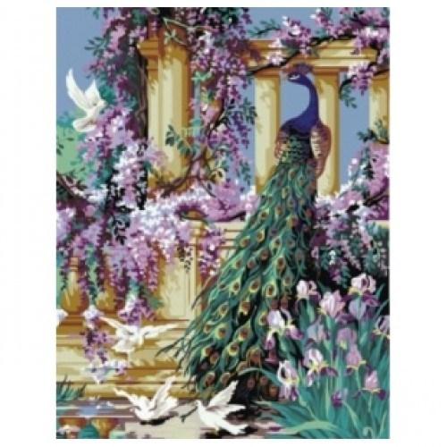 Картина-раскраска по номерам на холсте Райский сад