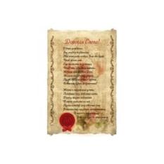 Свиток пергамента Стихи для женщины на юбилей