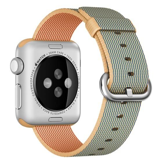 Ремешок для Apple Watch 38mm Gold/Royal Woven Nylon