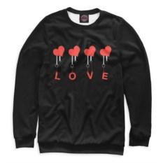 Свитшот Любовь (цвет: черный)