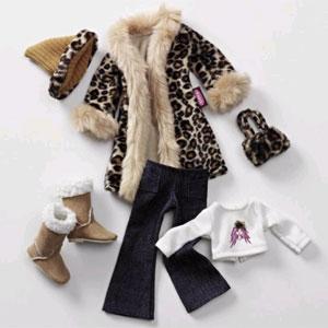 Набор зимней одежды для куклы