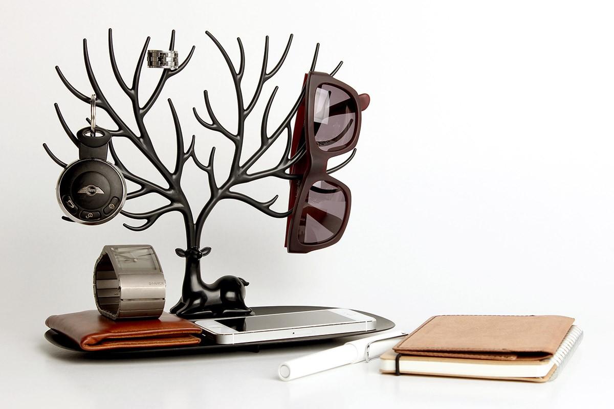 Декоративный органайзер для украшений Черный олень