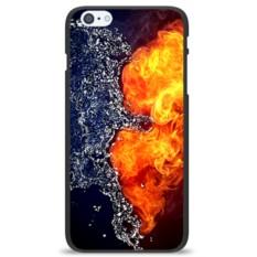 Чехол на телефон Сердце. Огонь и вода