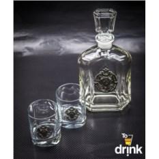 Набор стаканов для виски и рома со штофом Пограничный