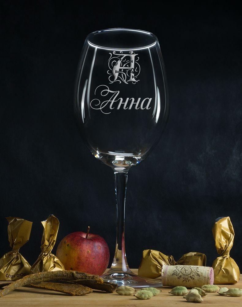Именной бокал для вина Персональный