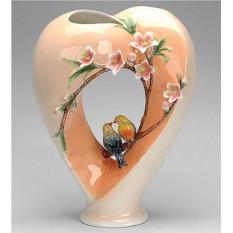 Фарфоровая скульптурная ваза Влюблённое сердце
