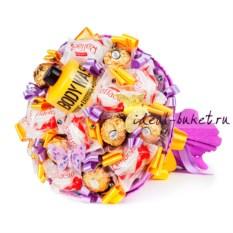 Букет конфет Линда (цвет: сиреневый)