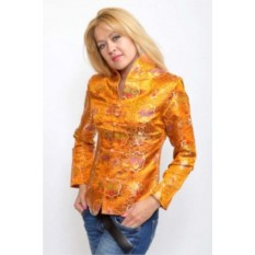 Женский китайский этнический жакет, оранжевый