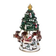 Украшение Оленья упряжка Деда Мороза над городом