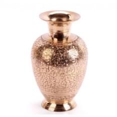 Латунная ваза с цветочным рисунком