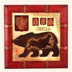 Декоративное панно из натуральной кожи Россия