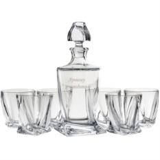 Набор: штоф + 6 бокалов для виски с гравировкой