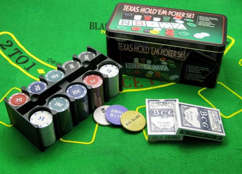 Набор для покера Holdem Light 200 фишек с номиналом Premium
