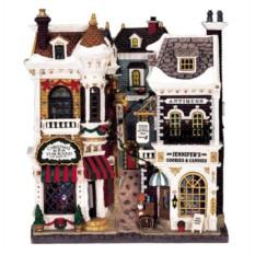 Фасад Городок рождественских покупок с подсветкой