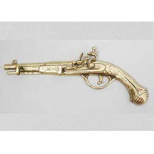 Бронзовая ключница-пистолет 3 крючка