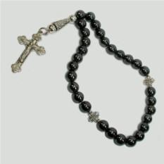 Христианские четки из гематита с крестом