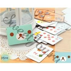 Игральные мини-карты Rilakkuma Tiny (Мятные)