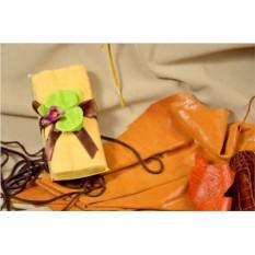 Набор махровых полотенец Орхидея в лимонной глазури