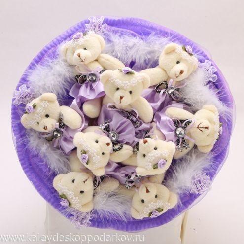 Букет из игрушек Милые мишки