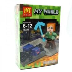 Конструктор Lele Minecraft Алекс и паук