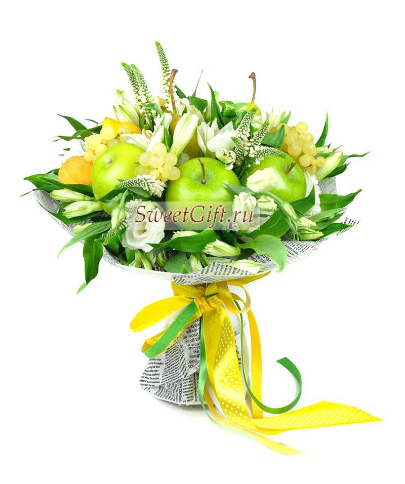 Букет из фруктов и цветов Lime