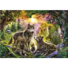Пазл Волки