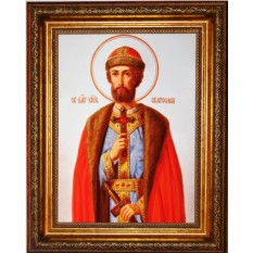 Икона на холсте Святослав Владимирский