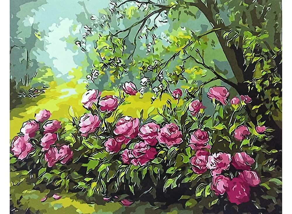 Картины по номерам «Лесные розы»