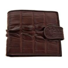 Мужской кошелек с монетницей из кожи крокодила
