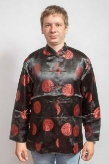 Китайская этническая куртка, черная