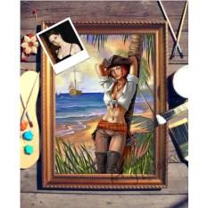 Портрет по фото Девушка на острове