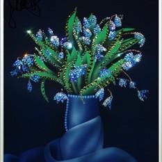 Картина с кристаллами Swarovski «Букет подснежников»