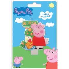 Фигурная свеча «Цифра 3», Peppa Pig
