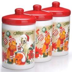 Набор банок 6 предметов Новогодние собачки