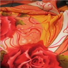 Платок «Розы на крепдешине»