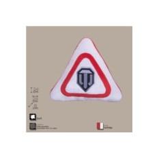 Декоративная белая подушка с логотипом игры World of Tanks